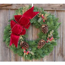 Noble Fir Cranberry Splash Wreath