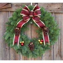 Noble Fir Victorian Wreath