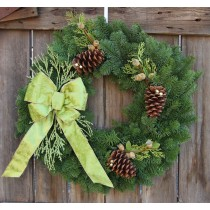 Noble Fir Wintergreen Wreath